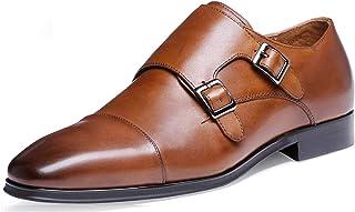 DESAI Chaussures de Ville Homme Classique Cuir Souple Noir/Marron