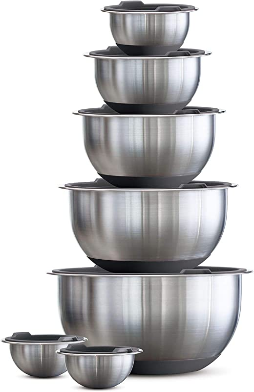 Tramontina 80202 507DS Mixing Bowls 14 Pc Gray