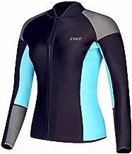 EYCE Women's 1.5 mm Wetsuits Jacket Long Sleeve Neoprene Wetsuit Top