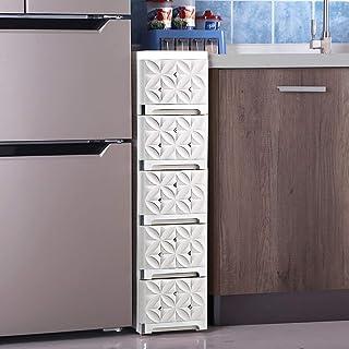 KHFJ Armoire de Rangement Snack Plastique Locker Armoire de Chevet Salle de Bain étagère Raffinez Slit Armoire à tiroirs d...