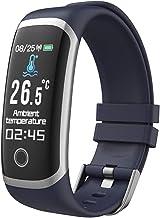 Smart Horloge Fitness Tracker voor Mannen Vrouwen Hartslagmeter Slaapmonitor Volledige Touchscreen Activity Tracker 5ATM W...