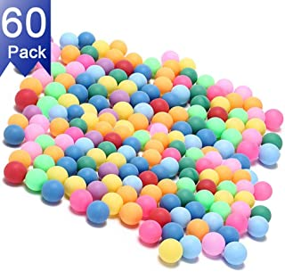 KEVENZ 60-Pack 40mm 2.7g Beer Assorted Ping Pong Balls Entertainment Ball Mixed Colors..
