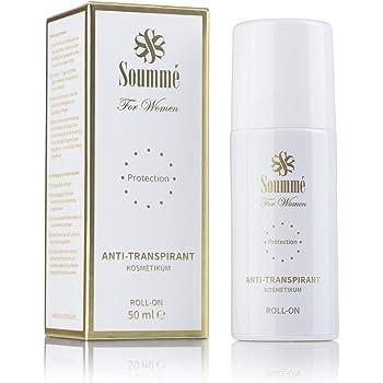 Soummé Antitranspirant Novel Protection for Women, Roll-On 50ml, Kosmetikum   Schützt vor Schweiß- und Geruchsbildung, verschiedene Pflegestoffe