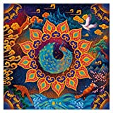 Bgraamiens Puzzle- Huaxia Creature-A Peacock in His Pride-1000 Pieces Jigsaw Puzzle Rich Color Challenge 1000 PCS Square Jigsaw Puzzles