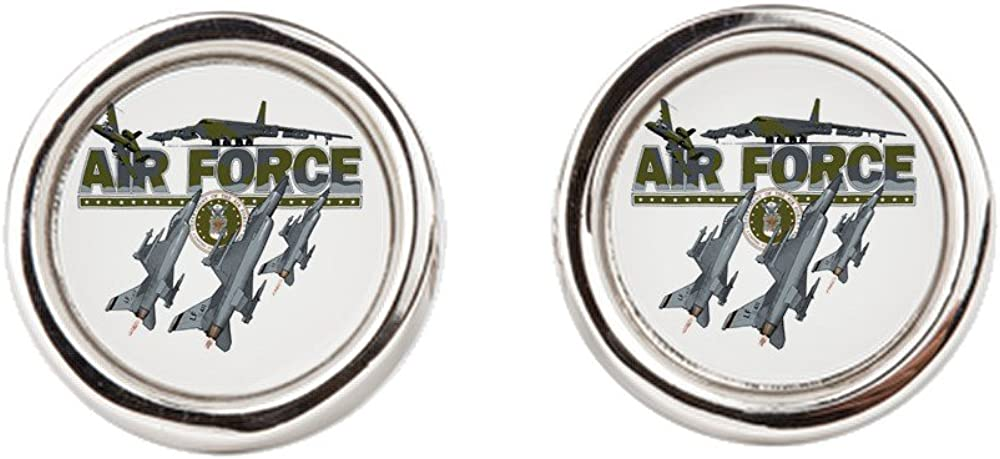 Cufflinks (Round) US Air Force Planes Fighter Jets