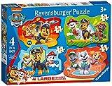 Ravensburger puzzle - Paw Patrol - 4 Large Shaped Puzzle Giant, Puzzle para niños