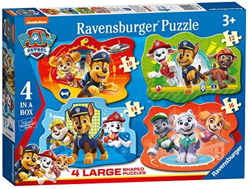 Ravensburger - Puzzle Paw Patrol, pack de 4 (03028)