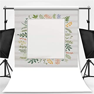 Floral Wedding Invitation Template Theme Backdrop Photography Polyester Backdrop,120320,5x7ft