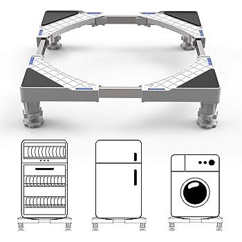 Waschmaschine Und K/ühlschrank Waschmaschinen Untergestell Verstellbare Sockel F/ür Trockner Untergestell F/ür K/ühlschrank Verstellbare Sockel,K/ühlschrank Untergestell
