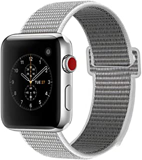 ENANYN Nylon Band Compatible with Apple Watch Band 38mm 40mm 42mm 44mm Adjustable Closure Breathable Woven Nylon Replacement Band for Watch Series 4,3,2,1
