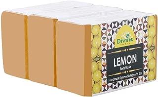 Divine India Lemon Soap, 125 g (Pack of 3)