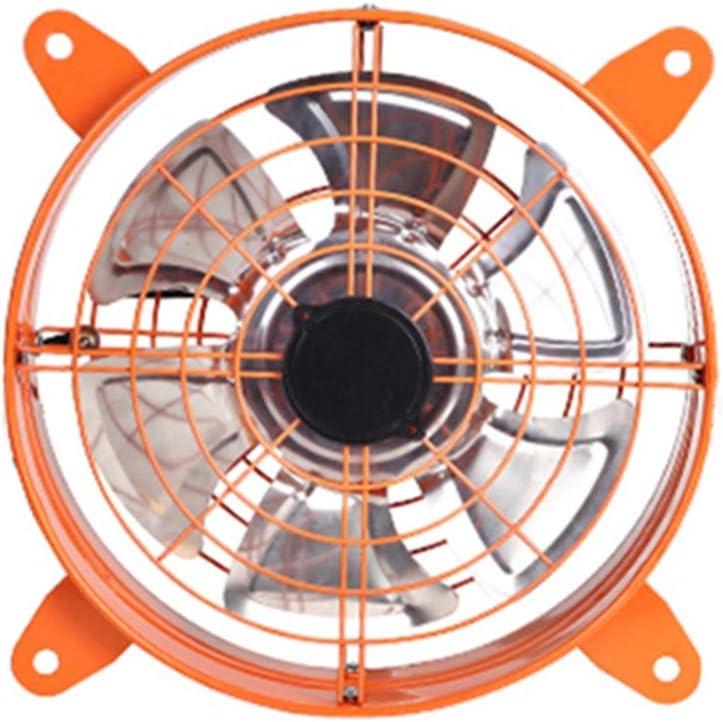QFFL Ventilador eléctrico, Industrial de Alta Potencia, Extractor de Aire, Extractor, Cocina, fábrica, Gran Volumen de Aire, Humo, Extractor, Ventilador - Naranja/Rojo Ventilador