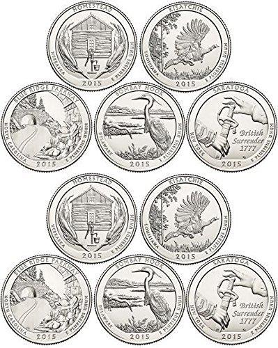 2015 National Parks Set P&D Mint (10 Coins) Uncirculated