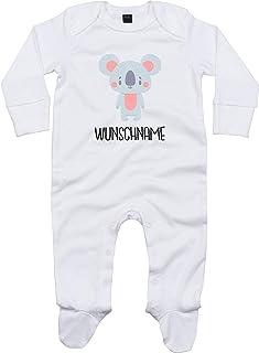 Kleckerliese Baby Schlafanzug Strampler Schlafstrampler Sprüche Jungen Mädchen Motiv Tiere Koala Koalabär Wunschname Name Wunschtext