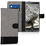 kwmobile Wallet Case for Blackberry Motion - Fabric and PU