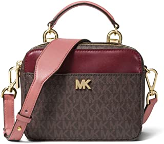 b3eb90f04bf4 MICHAEL Michael Kors Mott Mini Logo and Leather Crossbody in Rose