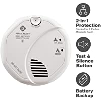 First Alert BRK SC7010B Photoelectric Carbon Monoxide & Smoke Alarm Hardwired with Battery Backup