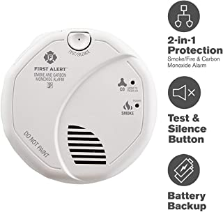 First Alert SC7010B Smoke Carbon Monoxide Detector, 1 pack, White