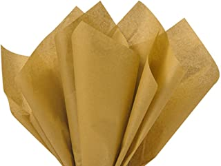 Antique Gold Tissue Paper 15 inch x 20 inch 100 Sheets Premium Gift wrap Paper