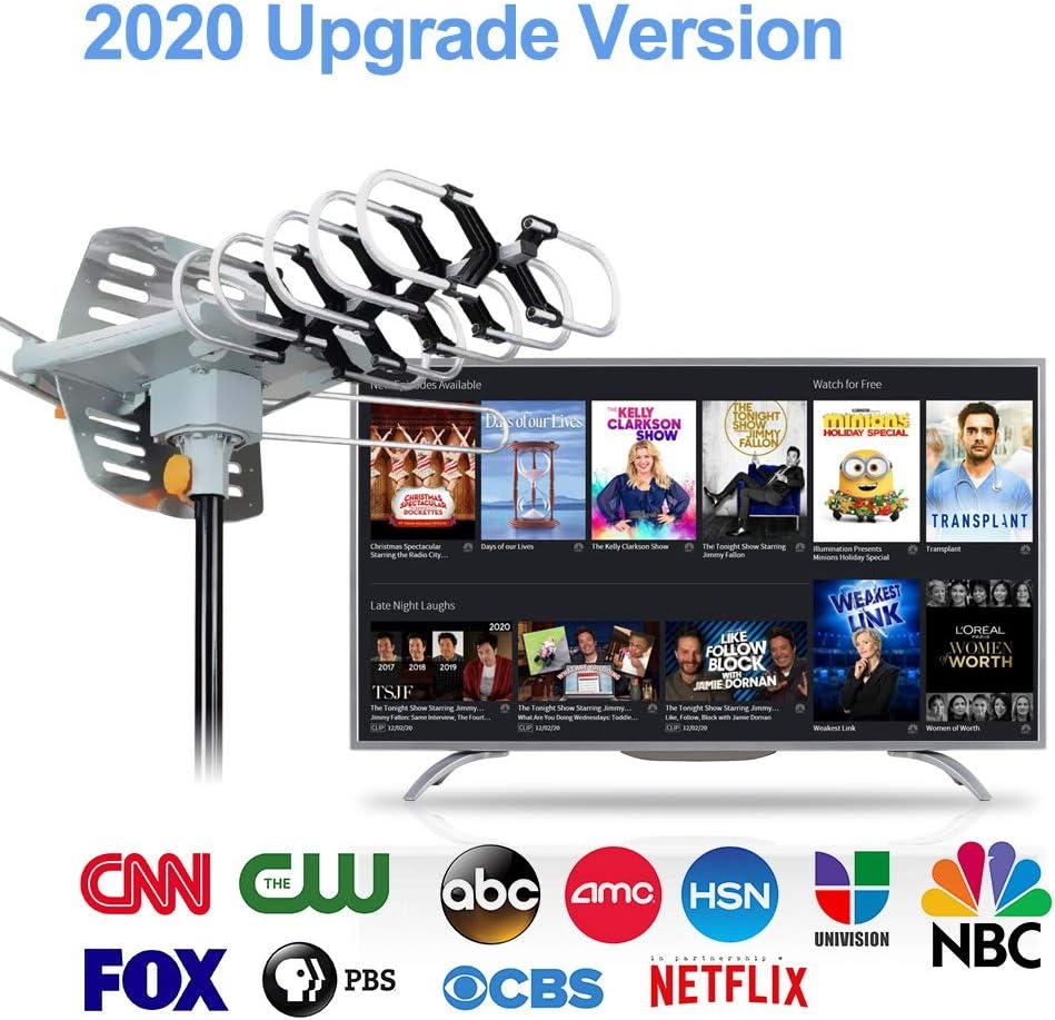 Outdoor TV Antenna Digital Amplified HD TV Antenna 150 Mile Long ...