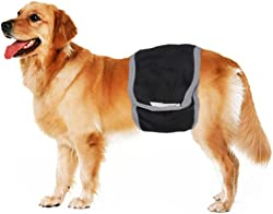 FakeFace Male Pet Dog Puppy in Season Heat Pants Wrap Belly Band Comfortable Washable Urine Diapers Reusable Pet Physiological Sanitary Pants Nursing Nappy For Small Medium Large Dog Boys