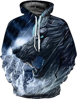 OYABEAUTYE Sudadera con Capucha niño de la Galaxia HD Colorido 3D Imprimieron el suéter Unisex de la Manga Largas