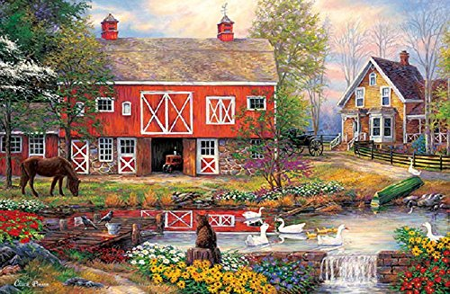 Apple One 1000 Piece Jigsaw Puzzle Country Life (50 X 75 Cm) (japan import)