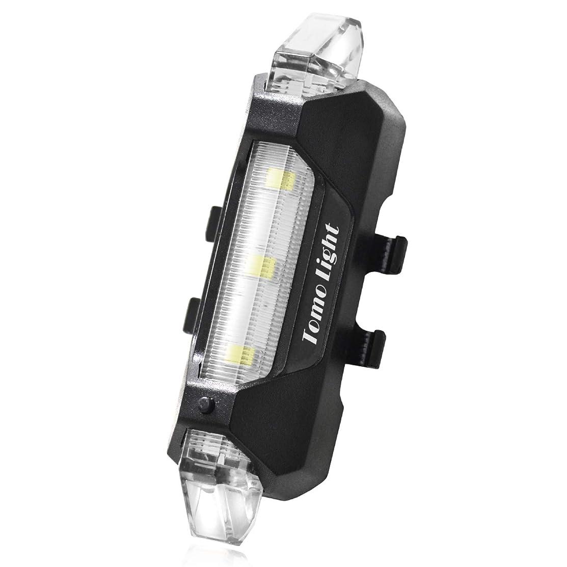酒批判する数字Tomo Light テールライト 自転車用 セーフティーライト usb充電式 対防水コーティング 高輝度ledライト 自転車用ライト 軽量 ロードバイク マウンテンバイク 小型自転車 リアライト テールランプ