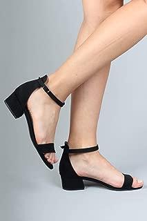 Siyah Süet 3 cm Kısa Topuklu Tek Bant Bayan Ayakkabı