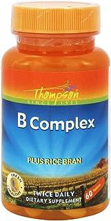 Thompson B Complex, Plus Rice Bran, 60 Tablets