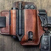 Breale taktisk multiverktygshållare läder EDC väska organiserare bältesögla med nyckelhållare för ficklampa verktyg Oudoor...