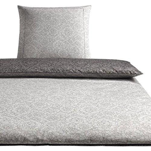 elegante Mako-Satin Bettwäsche Romeo Kissenbezug einzeln 40x40 cm