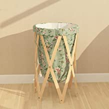 Household large-capacity storage bag Hanging bag Beige Rose Pattern Creative Dirty Clothes Basket Folding The Laundry Bask...