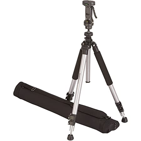 Amazon Basics Pistol Grip Camera Travel Tripod With Bag - 34.4 - 72.6 Inches, Black