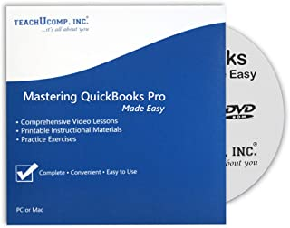 Learn QuickBooks Desktop Pro 2019 DVD-ROM Training Tutorial Course- Video Lessons, Printable Instruction Manual, Quiz, Final Exam and Certificate of Completion