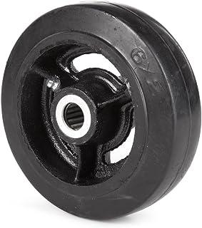 """Wesco 108838 6"""" Diameter Gietijzeren Center Moldon Rubber Wiel, 400 lb. Capaciteit 1-1/2"""" Tread Breedte, 3/4"""" Boring, 2"""" H..."""