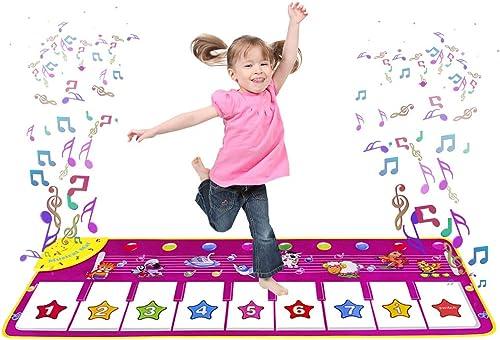m zimoon Tapis de Danse, Tapis de Piano Tapis de Musique Tapis de Jeu Musical Enfants Début Éducatif pour Bébés, Fill...