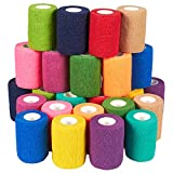 Self Adhesive Bandage Wrap, Cohesive Tape in 12 Colors (3 in x 5 Yards, 24-Pack)