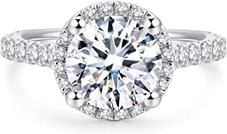2ct Round Brilliant Cut Petite Micro Pave Floating Halo Simulated Diamond CZ Engagement Ring