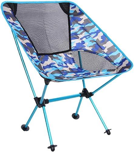 MIMI KING Chaise de Pliage extérieure Ultra légère Portable pêche en Tissu Oxford pêche Chaise Loisirs Camping Chaise de Plage avec Sac de Transport