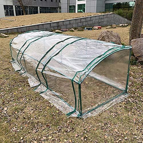 Invernadero de Jardín Tienda de plantas de jardín del túnel de la planta grande de 2,7 m de la planta, la cubierta transparente del PVC y la estructura del marco de acero, con la puerta con cremallera