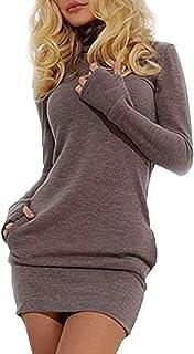 Las Mujeres En Otoño Sudaderas Vestido Casual De Largas Mangas Cuello Alto Especial Estilo Slim Fit Pullover Camiseta Vest...