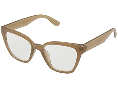 San Diego Hat Company BSR1004 Square Shape Readers (Nude) Reading Glasses Sunglasses