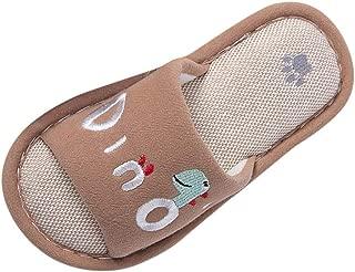 Toddler Infant Kids Girls Boys Unisex Cartoon Linen Slippers Breathable Shoes