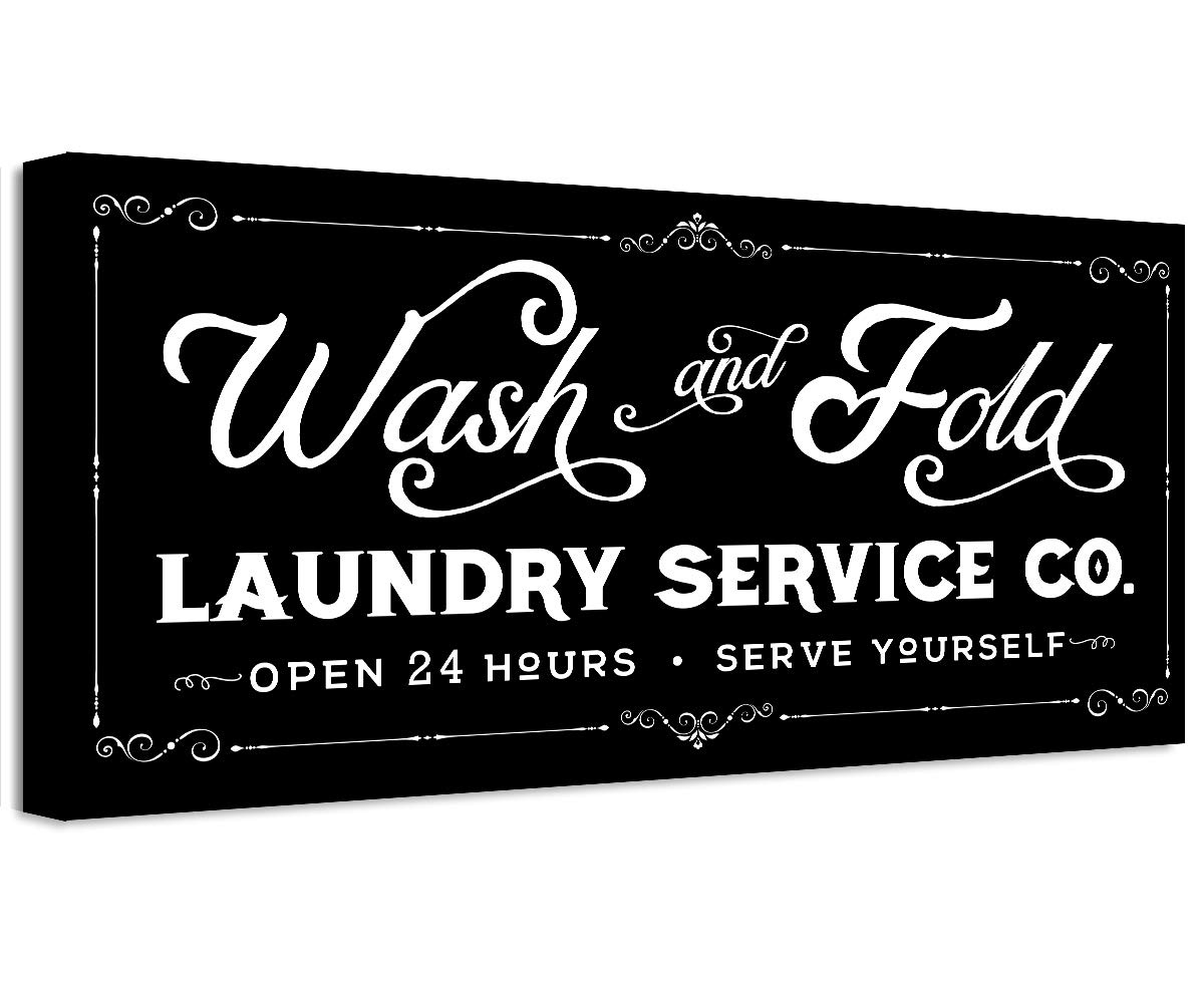 Wash Fold Laundry - Unframed Special price New mail order Great Housewarming Gift Print a