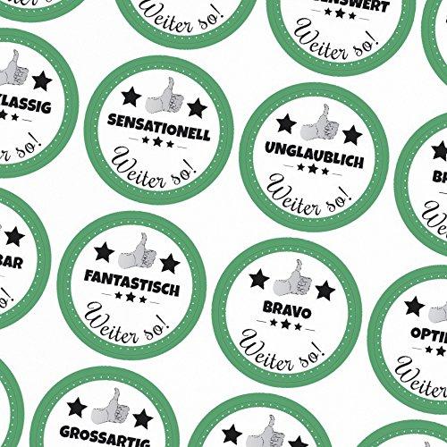 48 runde Aufkleber/Motivation/Lob/Erziehung, Schule, Kita, Kindergarten, Vorschule, Uni/Aufkleber Sticker zum Motivieren/Für Lehrer und Schüler