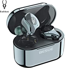 True Wireless Earbuds Bluetooth 5.0 Headphones - Sabbat Stereo Deep Bass Wireless Headphones for Sport/Workout/Music, Noise Cancelling Bluetooth Headset for Sumsung Galaxy/iPhone/iOS/Android