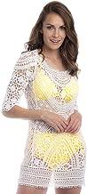 SOL Y PLAYA - Caftán Punto Crochet Vestido Playa una Pieza Transparencias Blanco Moderno para Mujer Chica Kaftan