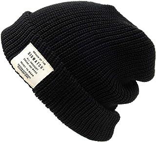 [ビッグワッチ] 帽子 ニット帽 ショート ラージスケール ニットキャップ ST-05 メンズ ブラック L XL 大きいサイズ