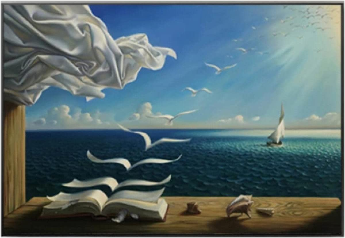 Canvas Painting Abstract Discount mail order Waves Book Print Poster A Sailboat Wall Limited price sale